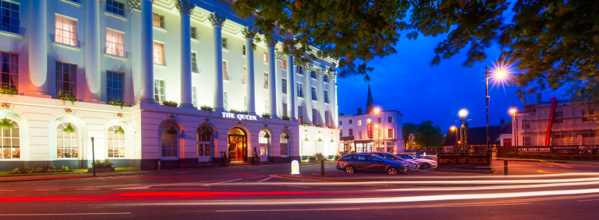 MGallery Queen's Hotel at night time