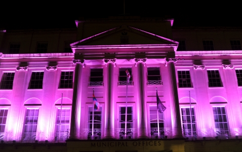 Municipal Offices Light Up Cheltenham launch event with Spark! drummers starting from The Brewery Quarter and parading to The Quadrangle. Picture by Mikal Ludlow Photography 10-2-18