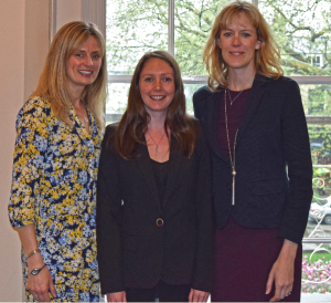First day in the office for Tara (right), Emma (middle) and Lisa (left) (April 2019).